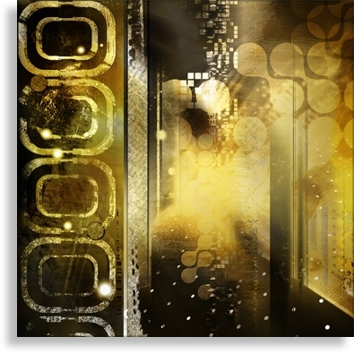 Abstract Canvas Prints – Contemporary Wall Art – Black And Goldi Pertaining To Black And Gold Wall Art (Image 3 of 25)