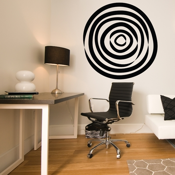 Abstract Circle Vinyl Wall Decal Pertaining To Circle Wall Art (View 20 of 25)
