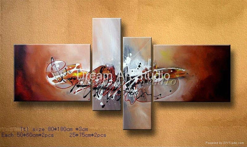 Abstract Modern Framed 3 Pieces Canvas Wall Art Oil Painting – Set Regarding Modern Framed Wall Art Canvas (View 25 of 25)