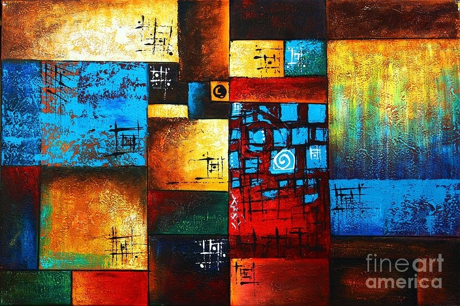 Abstract Oil Painting Modern Contemporary Art House Wall Deco Regarding Modern Abstract Painting Wall Art (Image 6 of 25)
