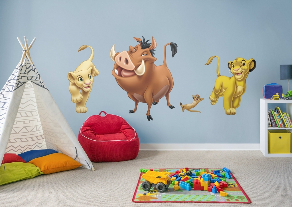 Accessories: Lion King Wall Art Attractive The Lion King Wall Decal Inside Lion King Wall Art (Image 3 of 25)