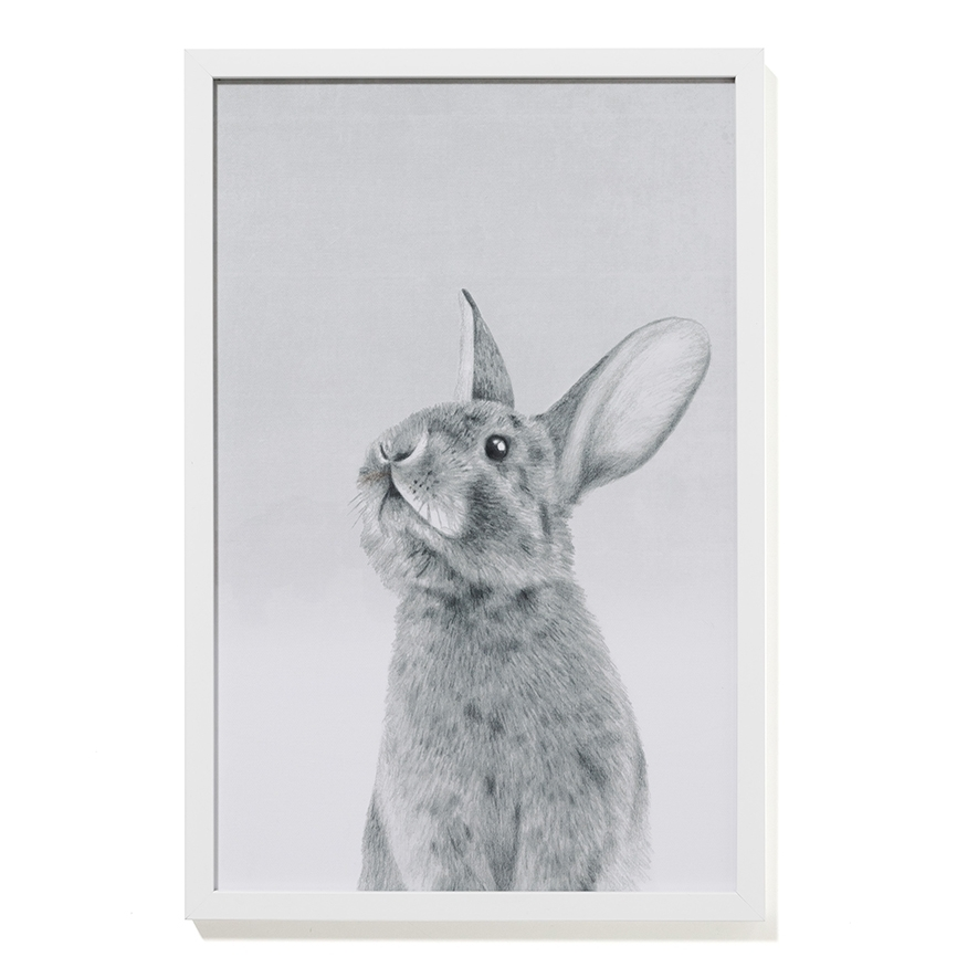 Adairs Kids – Bunny Wall Art – Home & Gifts Wall Art – Adairs Kids In Bunny Wall Art (Image 1 of 20)