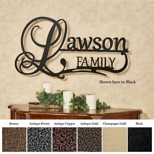 Affinity Family Personalized Metal Wall Art Signjasonw Studios Within Personalized Metal Wall Art (Image 2 of 20)