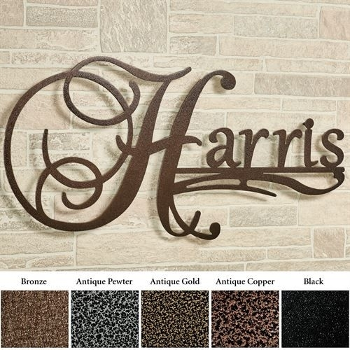 Affinity Personalized Metal Wall Art Signjasonw Studios | Metal Regarding Personalized Metal Wall Art (Image 3 of 20)