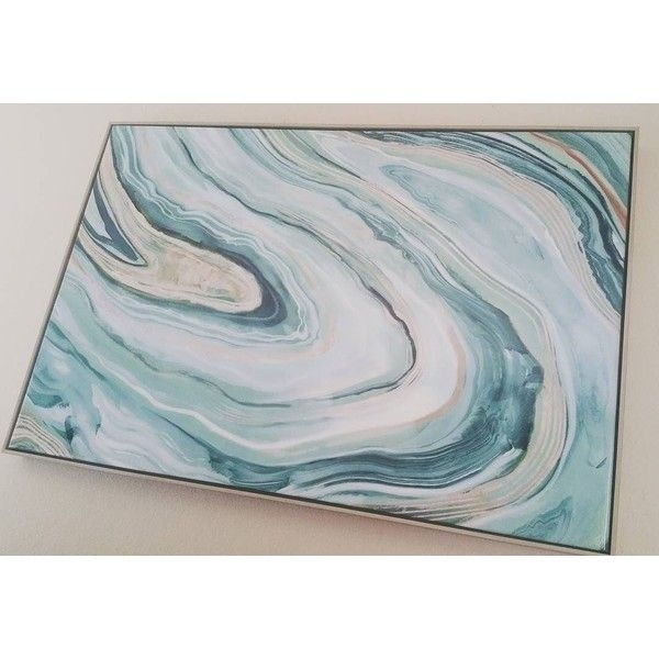 "Agate Framed High Gloss Canvas 36""x24"" – Threshold™ : Target Via Inside Agate Wall Art (Photo 4 of 25)"