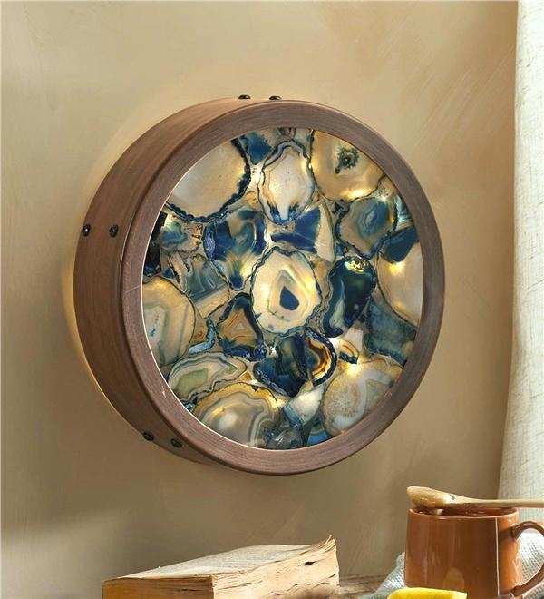 Agate Wall Art Lighted Framed Wind Weather – Design Of Interior Ideas For Agate Wall Art (Photo 11 of 25)