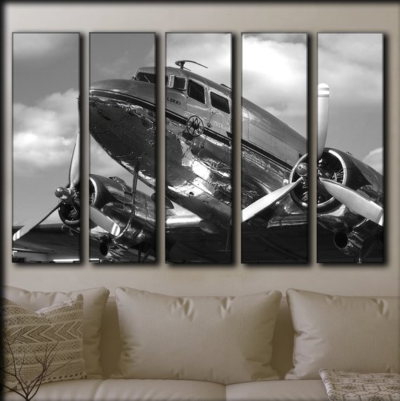 Aircraft Wall Art Airplane Wall Art Plane Engine Canvas Wall | Etsy For Airplane Wall Art (View 4 of 20)