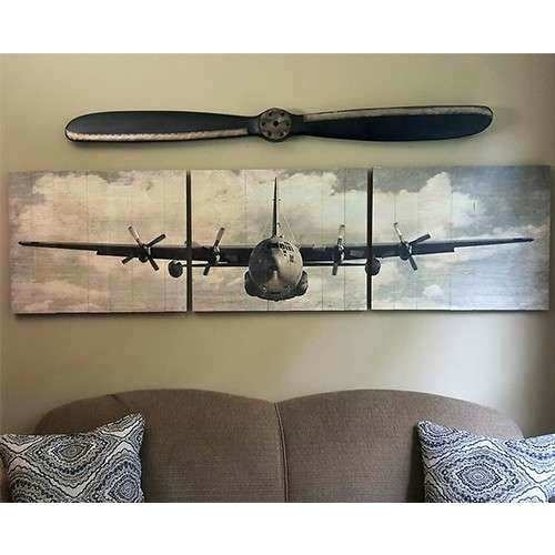 Airplane Canvas Wall Art Airplane Skyline 5 Piece Wall Canvas Art Throughout Airplane Wall Art (Image 5 of 20)