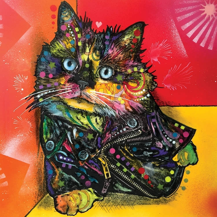 Albert The Baby Cat Canvas Wall Artdean Russo | Icanvas Throughout Cat Canvas Wall Art (View 8 of 25)
