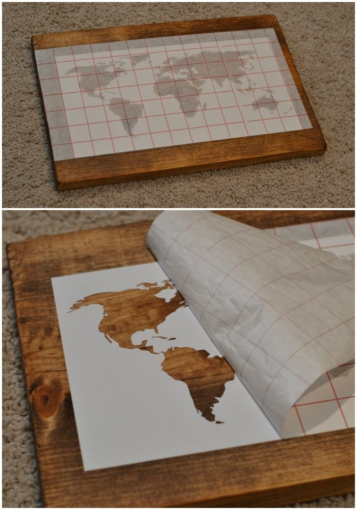 All Things Bright And Beautiful: Diy World Map Wall Art | Craft With Regard To Diy World Map Wall Art (Image 4 of 25)