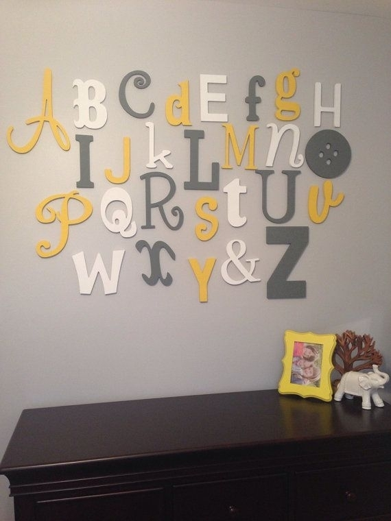 Alphabet Letters Wall Decor Entrancing Wall Art Decor Appealing Intended For Alphabet Wall Art (Image 1 of 25)