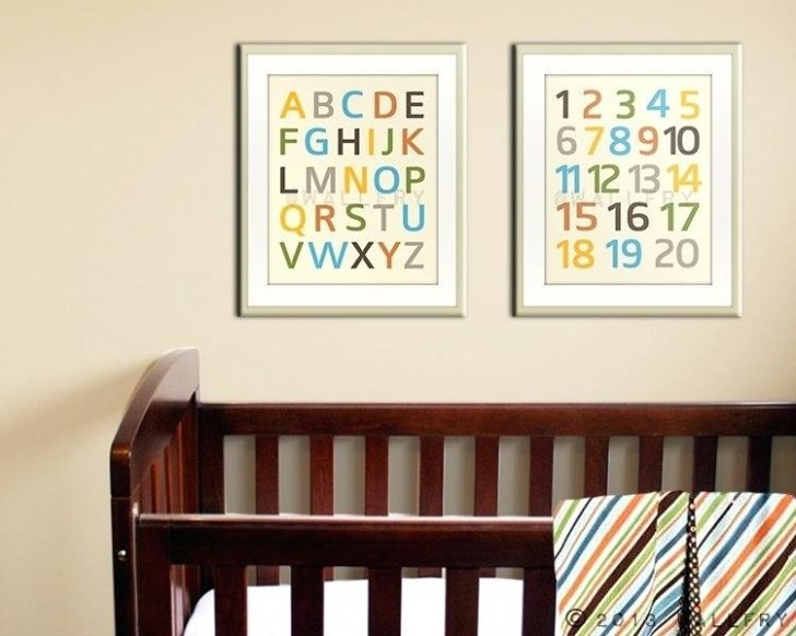 Alphabet Wall Art Nursery Delectable Modern Prints Remarkable Kids Throughout Alphabet Wall Art (Image 3 of 25)
