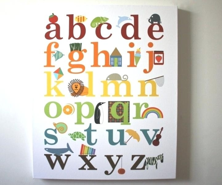 Alphabet Wall Art Of Alphabet Wall Art Great For Your Small Home For Alphabet Wall Art (Image 4 of 25)