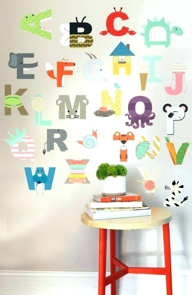 Alphabet Wall Art Playroom Ideas Best On Decor With Letters For R Within Alphabet Wall Art (Image 5 of 25)
