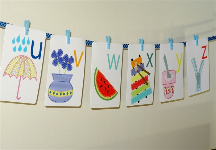 Alphabet Wall Cards – Alphabet Wall Art – Alphabet Flash Cards With Alphabet Wall Art (Image 6 of 25)