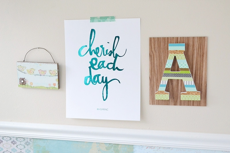 Aly Dosdall: Washi Tape Monogram Wall Art Throughout Monogram Wall Art (View 14 of 25)