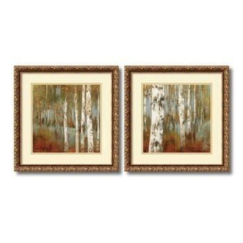 Amanti Art ''along The Path'' Tree 2 Piece Framed Wall Art Set With Regard To Set Of 2 Framed Wall Art (Image 2 of 25)