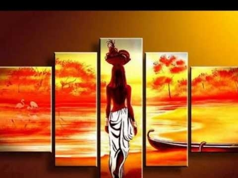 Amazing African Canvas Wall Art – Youtube Intended For African Wall Art (Image 6 of 10)