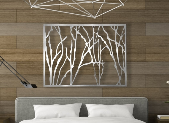 Amazing Laser Cut Metal Decorative Wall Art Panel Sculpture For Home Throughout Wall Art Panels (Image 6 of 25)