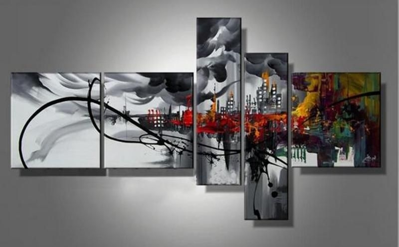 Amazing Multi Canvas Painting Spanning Several Canvasses (800×495 Inside Multi Piece Wall Art (View 20 of 20)
