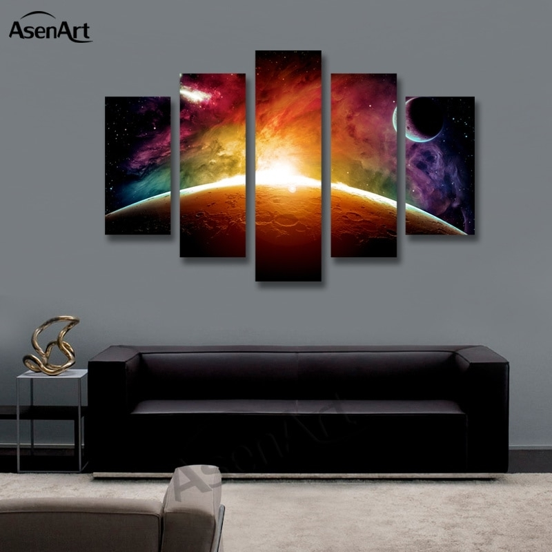 Featured Photo of 5 Panel Wall Art