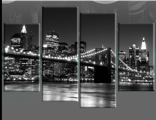 Amazon Com New York City Nyc Skyline Skyscraper Canvas Print Wall Regarding Nyc Wall Art (Image 4 of 25)