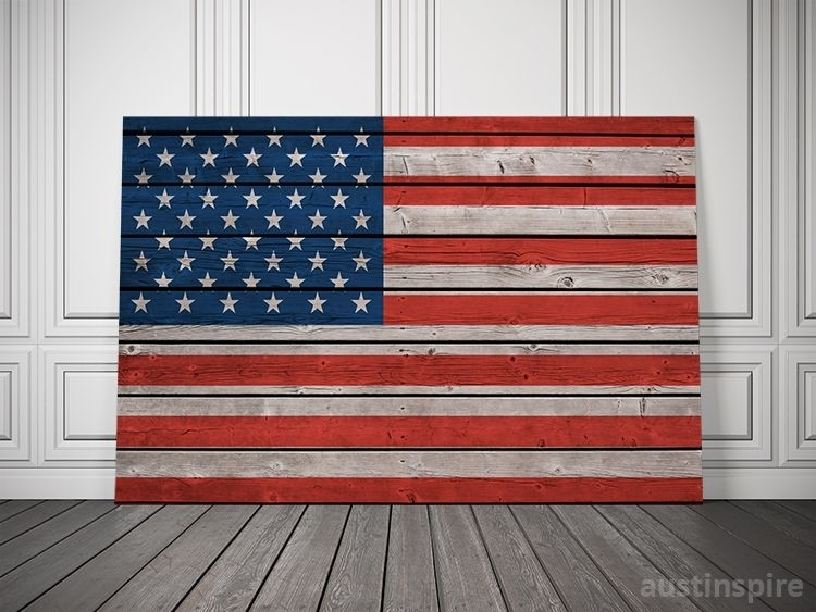American Canvas Flag | Pinterest | Flags, Men Cave And Plank Throughout Rustic American Flag Wall Art (Image 3 of 25)