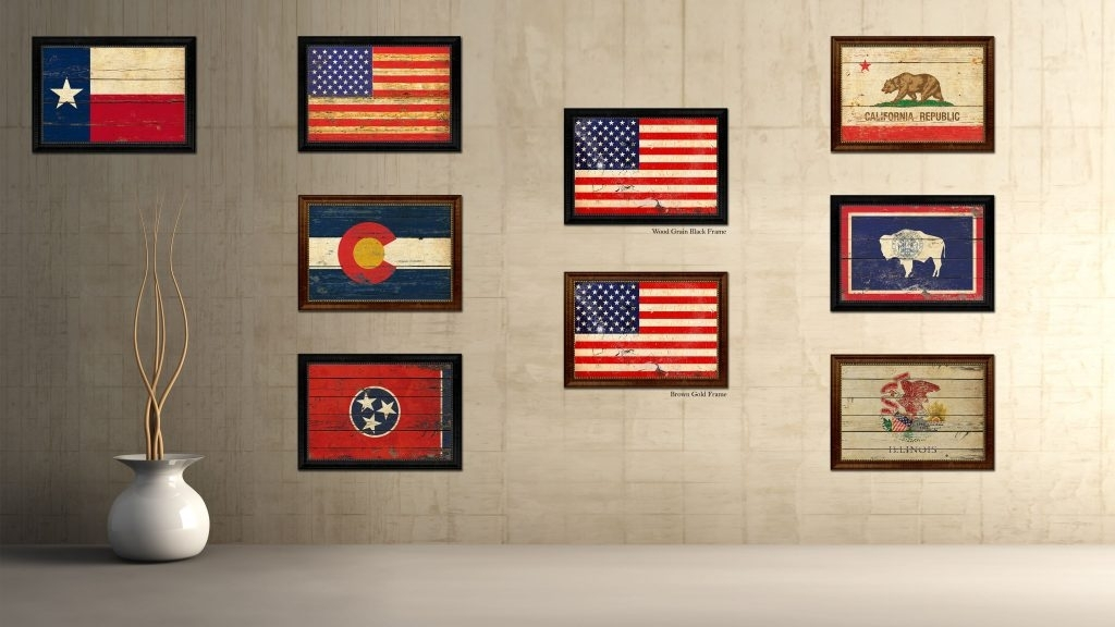 American Flag Wall Art – Culturehoop Intended For Vintage American Flag Wall Art (Image 3 of 25)