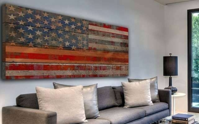 American Flag Wall Art Vintage Flag Wall Art Best Of Wall Art With Vintage American Flag Wall Art (Image 4 of 25)