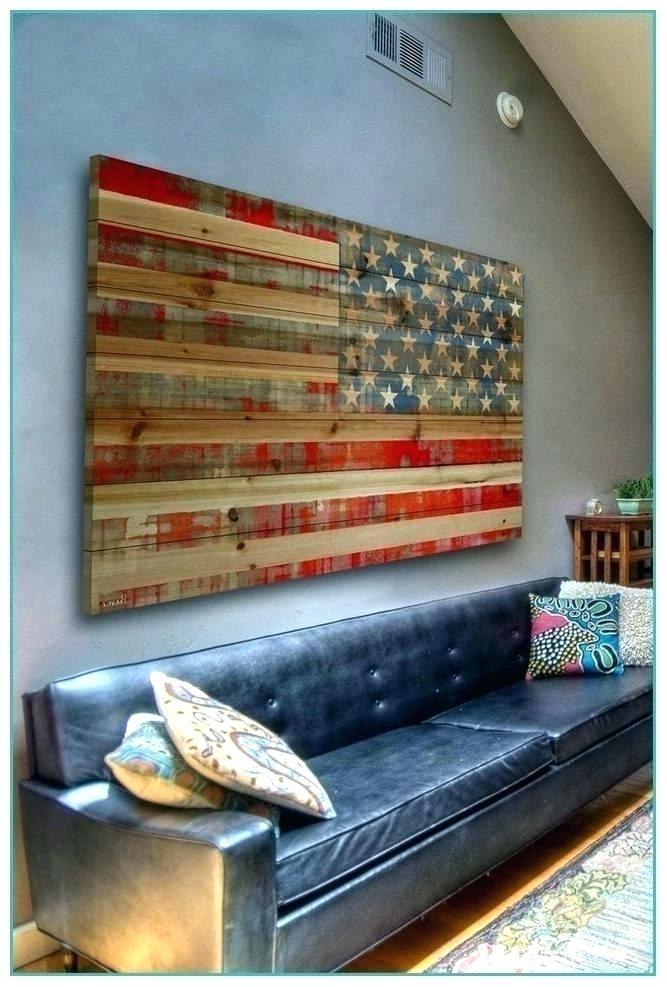 American Flag Wall Decor Flag Wood Wall Decor Wood American Flag Intended For Rustic American Flag Wall Art (Image 7 of 25)