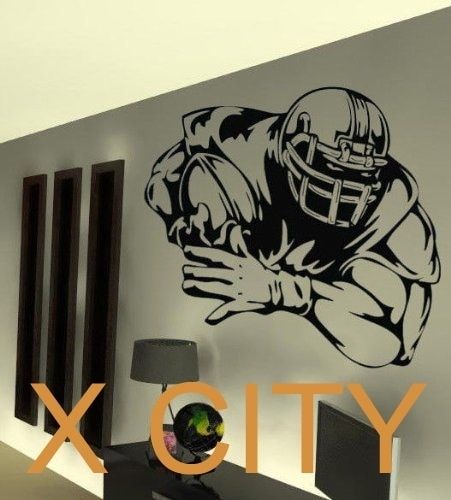 American Football Player Wall Art Graphic Sticker Die Cut Vinyl For Nfl Wall Art (Image 1 of 20)