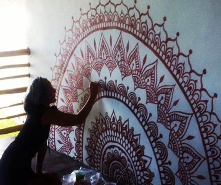 An Artist From Gaza Uses Henna To Create Stunning Wall Art For Henna Wall Art (Image 4 of 25)