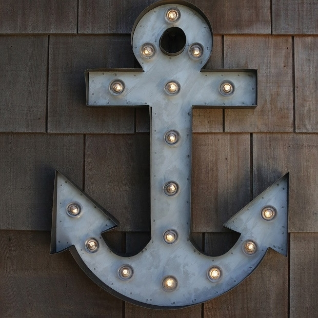 Anchor Wall Art Marquee Light | Antique Farmhouse With Regard To Anchor Wall Art (Image 4 of 25)