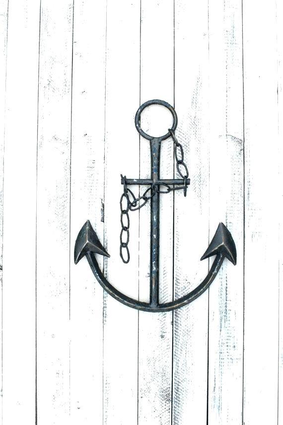 Anchor Wall Wooden Anchor Wall Decor Anchor Wall Art Anchor Decor Regarding Anchor Wall Art (Image 7 of 25)