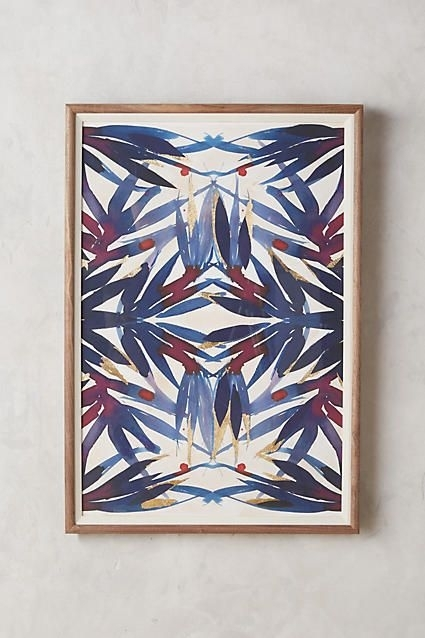Anthropologie Sapphire Frond Wall Art | For The Apartment Within Anthropologie Wall Art (View 15 of 20)