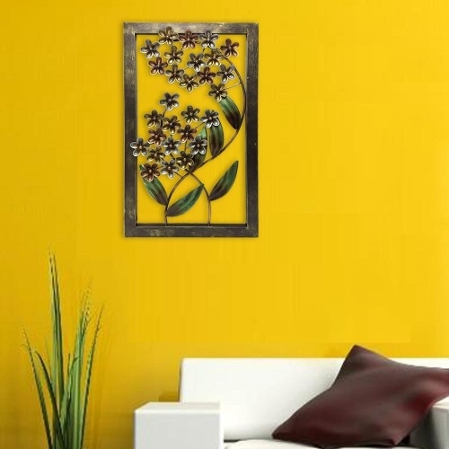 Antique Metal Floral Wall Art for Floral Wall Art
