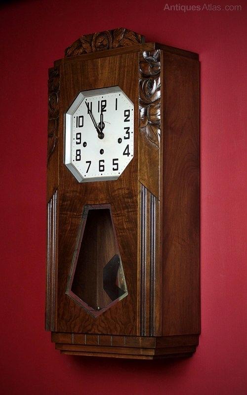 Antiques Atlas – Art Deco Wall Clock C. (View 7 of 25)