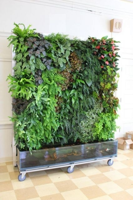 Aquaponic Living Walls With Regard To Living Wall Art (Image 4 of 25)