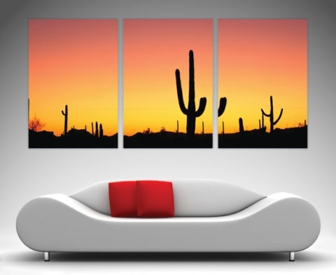 Arizona 3 Panel Wall Art Prints On Canvas Pertaining To Arizona Wall Art (Image 6 of 25)
