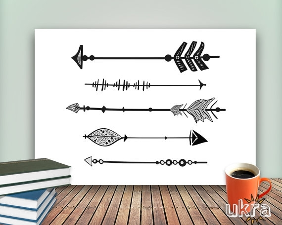 Arrow Art Print,printable Art Wall Decor,inspirational Wall Art Pertaining To Arrow Wall Art (Image 1 of 20)
