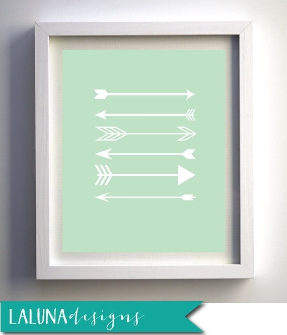 Arrow Print Arrow Wall Art Arrows Nursery Artlalunadesigns Throughout Arrow Wall Art (Image 3 of 20)