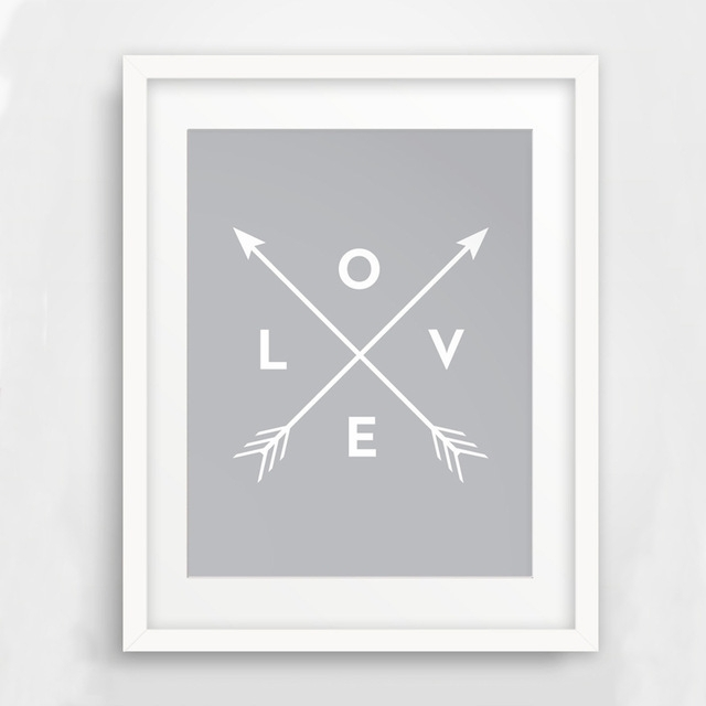 Arrow Wall Art, Printable Arrow Art, Love Wall Art, Print Art Canvas For Arrow Wall Art (Image 8 of 20)