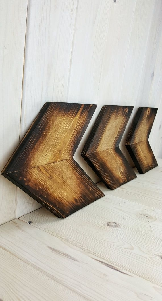 Arrow Wall Art, Unique Home Décor, Wooden Wall Art, Wooden Arrows For Chevron Wall Art (View 22 of 25)