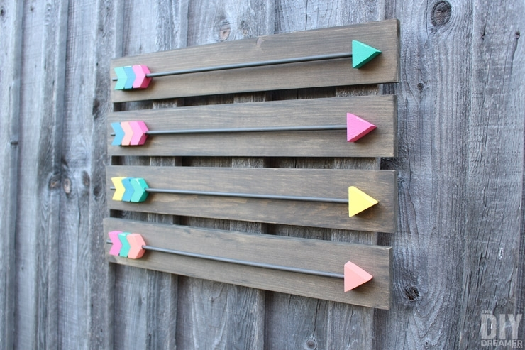 Arrow Wall Decor – Diy Wood Arrows Wall Art Within Arrow Wall Art (Image 9 of 20)