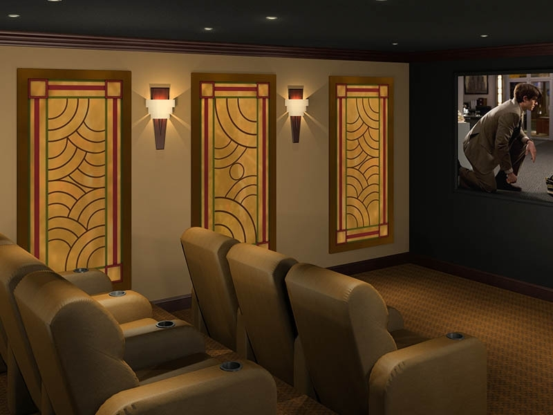 Art Deco Acoustic Panels Styles | Art Deco Theater Designs With Art Deco Wall Art (Image 1 of 25)