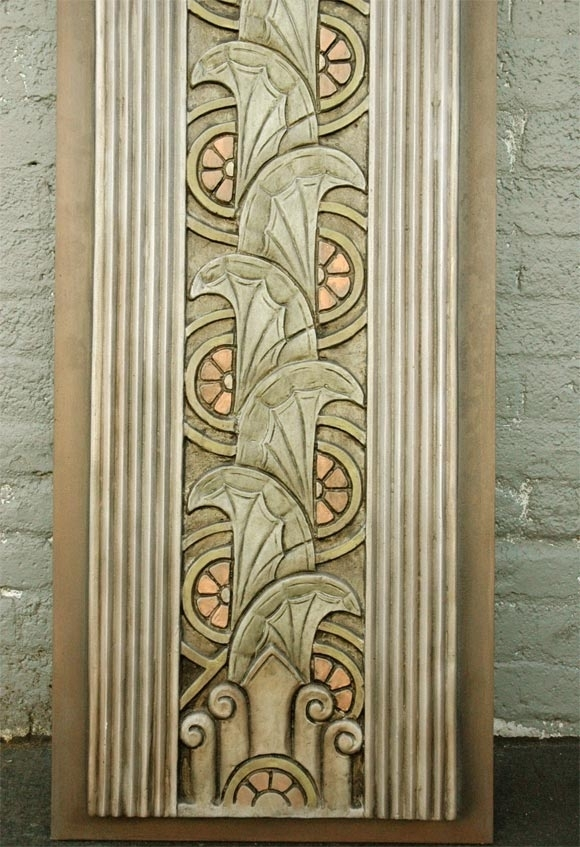 Art Deco Movie Theater Wall Plaques For Sale At 1Stdibs For Art Deco Wall Art (Image 2 of 25)