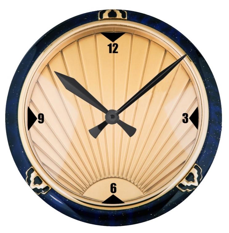 Art Deco Style Wall Clock | Art Deco | Pinterest | Art Deco Style Throughout Art Deco Wall Clock (View 17 of 25)