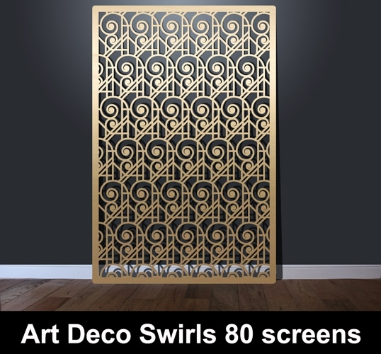 Art Deco Swirls 80 Laser Cut Screens – Laser Cut Screens For With Regard To Art Deco Wall Art (Photo 22 of 25)