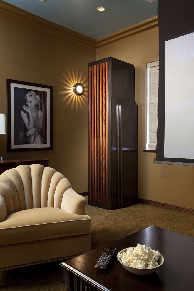 Art Deco Wall Art Home Theater Eclectic With Crown Molding In Art Deco Wall Art (View 21 of 25)
