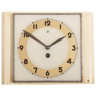 Art Deco Wall Clock From Chomutov, 1930S For Sale At Pamono Regarding Art Deco Wall Clock (View 20 of 25)